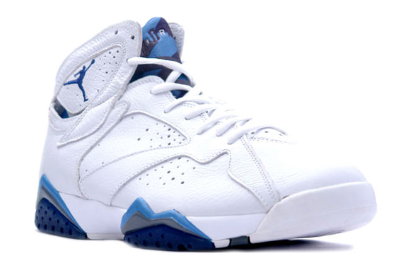 ab32e9702cda60 Air Jordan VII (7) Retro 2002 - White - French Blue - Flint Grey ...
