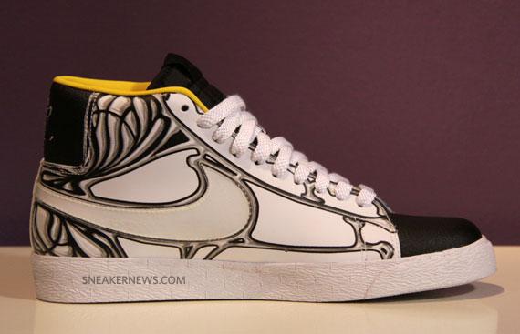 competitive price 5bd6e 5044b Nike Blazer High Supreme - White-Black-Varsity Maize ...