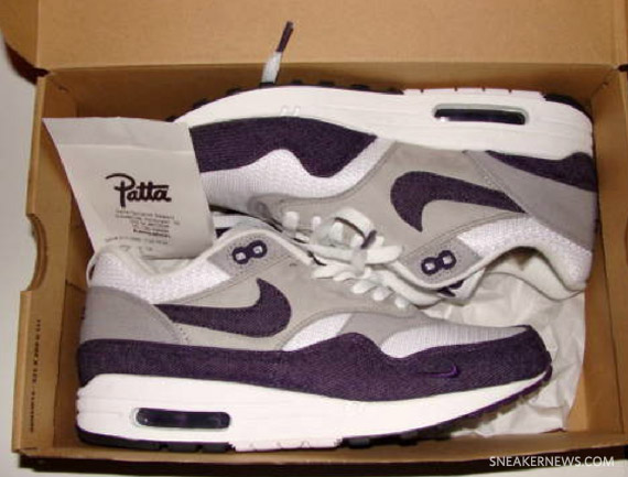 Patta x Nike Air Max 1 White Grand Purple Available on