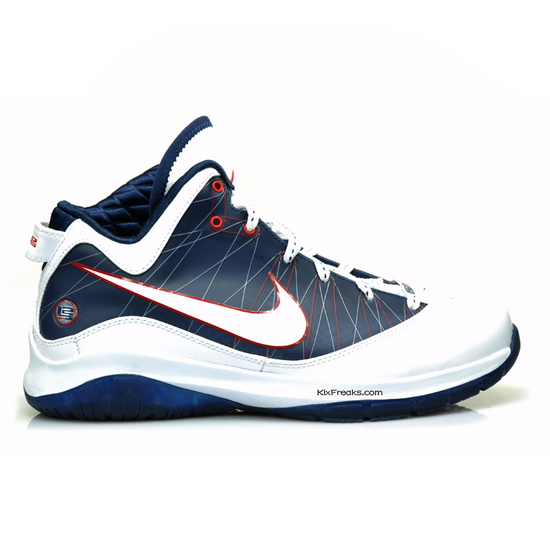7a08c509d62d3 delicate Nike Air Max LeBron VII 7 P S White Midnight Navy Red ...