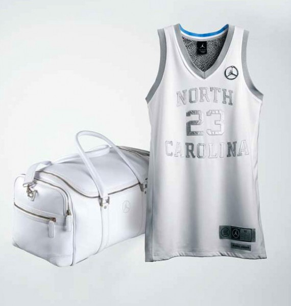 Air Jordan 25th Anniversary UNC Jersey Duffle Bag