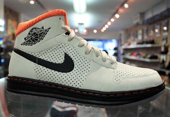 Mens Air Jordan Alpha 1 White Black Blue shoes