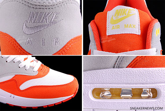 nike air max 1 white orange