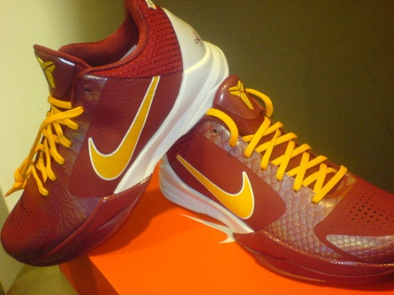 separation shoes e617d 760c5 Nike Zoom Kobe V - USC Trojans PE - New Images - SneakerNews