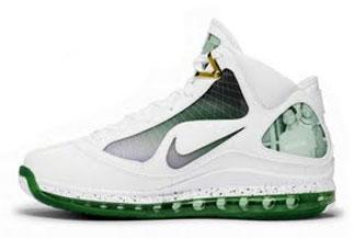 Color: White/WhiteMetallic GoldGorge Green  Style: 375664179  Retail:nikeairmaxlebron7mtagakron