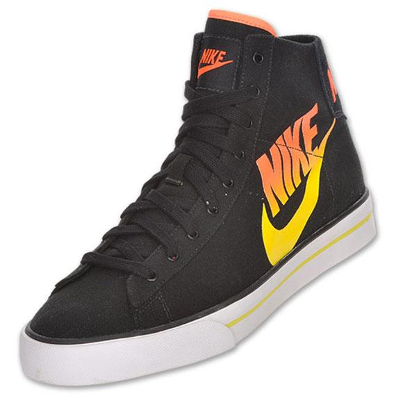 cf7dc9e3 Nike Sweet Classic High - Canvas - Black - Orange - Yellow ...