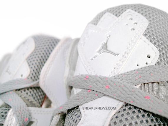 sale retailer 923dd e9845 Air Jordan True Flight GS – White – Metallic Silver – Perfect Pink –  Available