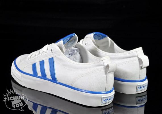 adidas originals nizza hi lo white blue