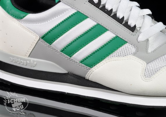 premium selection 191a8 c2330 adidas zx 500 white green