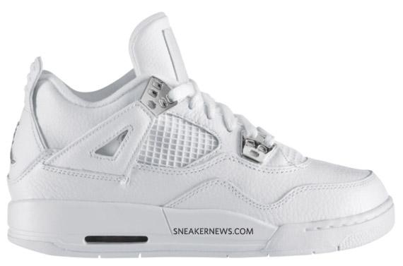 finest selection efd95 270bc ... Nike Air Jordan 4 IV Retro Mens Shoes Anniversary White Metallic Silver   Shop this Article ...