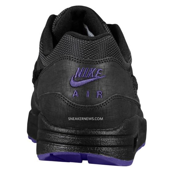arrives b47fe 86a61 Nike Air Max 1 – Air Attack Pack – Black Club Purple. Advertisement. Nike  ...