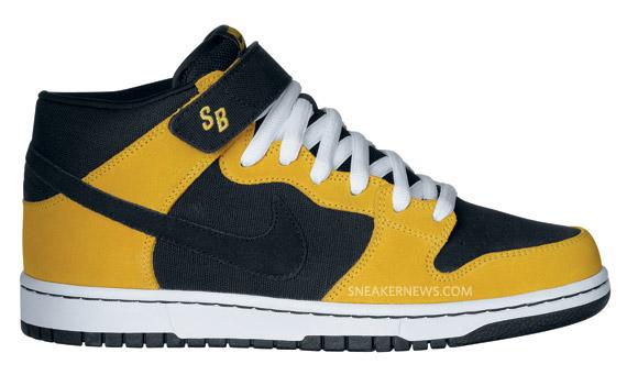 Nike SB Dunk Mid - Black - Yellow