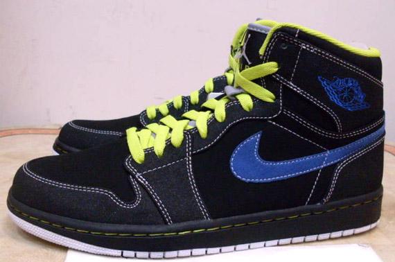 check out e5ab4 3c1b1 Air Jordan 1 Retro High - Black - Cyber - Blue Sapphire   Summer 2010 -  SneakerNews.com