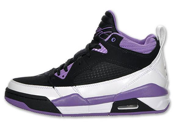 Air Jordan Flight 9 GS - White - Violet Pop - Black | Available - SneakerNews.com