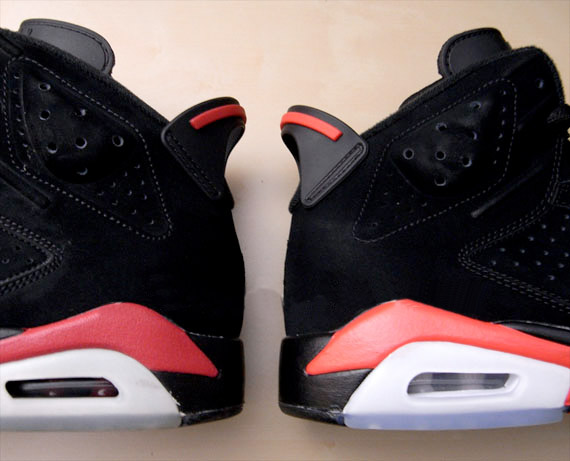 nike air jordan 6 vi retro infrared black varsity red 6