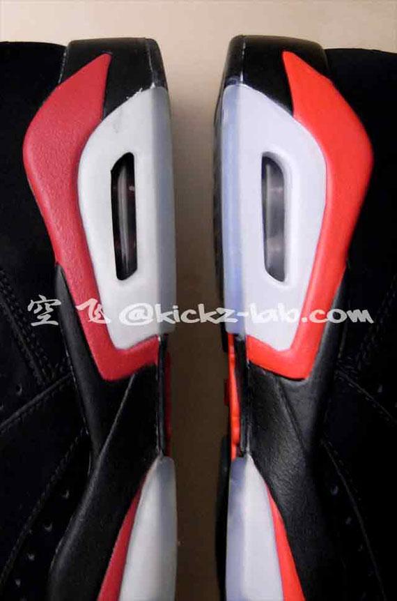 Air Jordan Vi (6) Retro 2010 Negro / Rojo Del Equipo Universitario rgZUTi