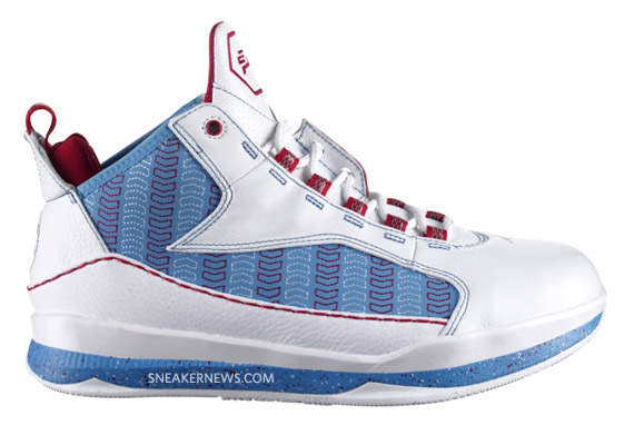 chic Air Jordan CP3 III Chevron White University Blue Varsity Red Available 8aab306379