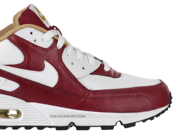 99eeee5d2d Nike Air Max 90 - White - Team Red - Gold | Available - SneakerNews.com