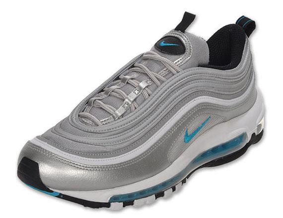 Nike Air Max 97 Metallic Silver Marina Blue