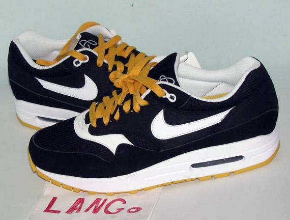 catch dba03 e669d Nike Air Max 1 - Black - Yellow - Omega Pack  Sample - Sneak
