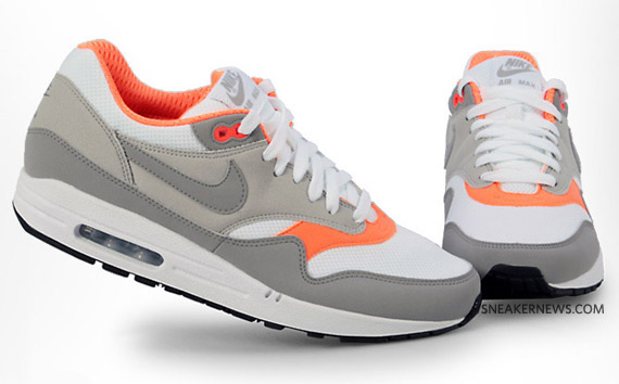 orange and white nike air max