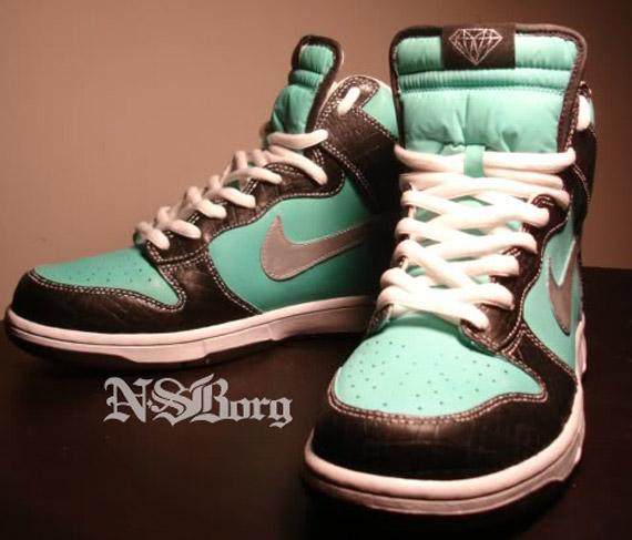 4f77db01b2ce new Nike SB Dunk High Tiffany Customs - ramseyequipment.com