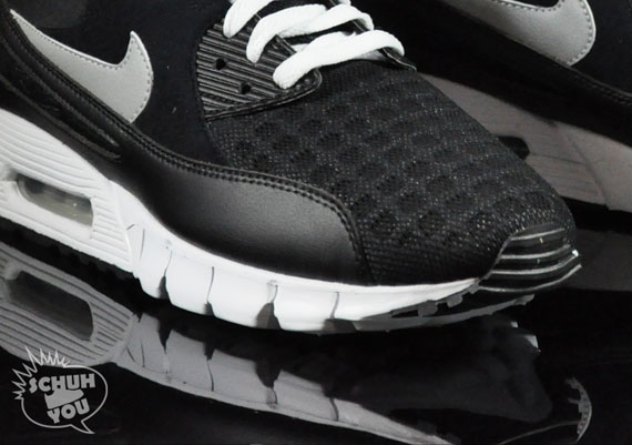 Nike Air Max 90 Current Torch Noir Noir Noir Argent Blanc 93a258