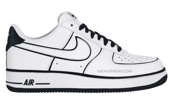 best service 6d6ca 4a011 ... drawing Nike Air Force 1 Low - White - Black - Vandal Inspired July  2010 .