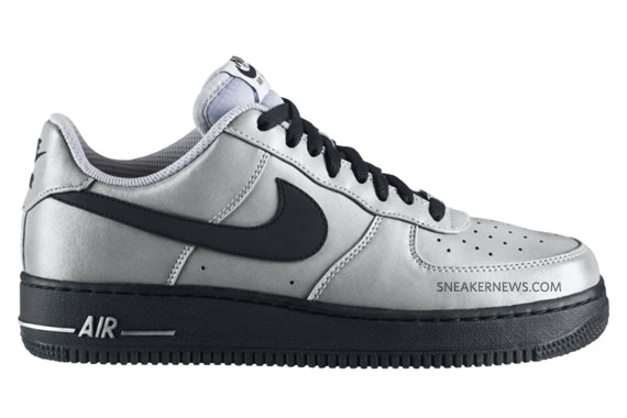 competitive price 913a7 b5edf durable modeling Nike Air Force 1 Low Premium QS Metallic Silver Black    July 2010