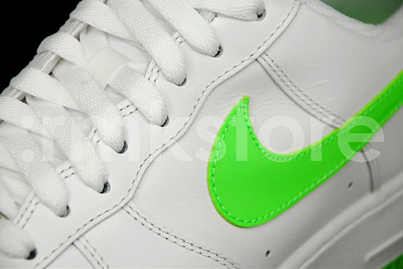 hot sale online 48509 fdd7a Nike Air Force 1 Low – White – Electric Green