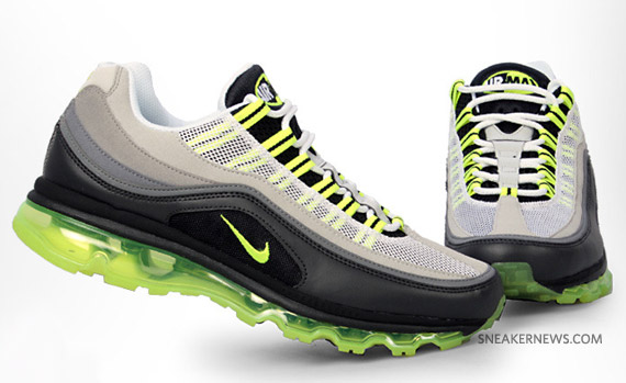 nike air max 2010 neon yellow air attack