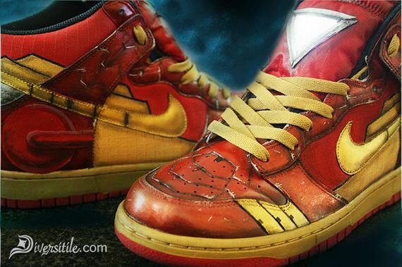 the latest 5303a 16832 Nike Dunk High - Iron Man + War Machine Customs by Diversiti