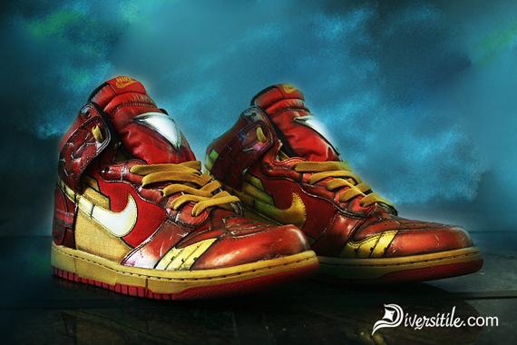 nike Xcellerator - Nike Dunk High - Iron Man + War Machine Customs by Diversitile ...