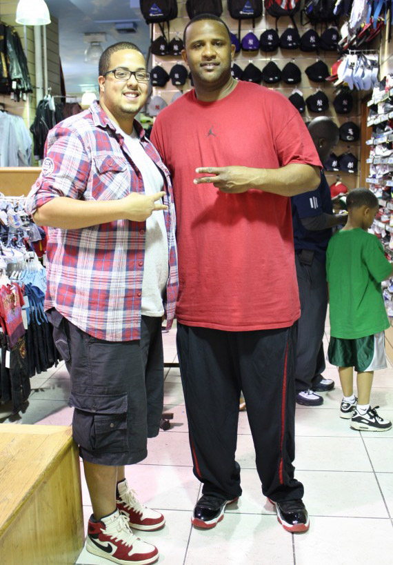 20e92c1ee459 Celebrity Feet  C.C. Sabathia - Air Jordan XI Bred - SneakerNews.com