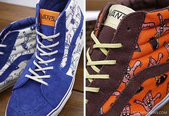 Vans Vault SK8 Hi LX – Surf Shaka – Blueprint + Orange – Mahogany