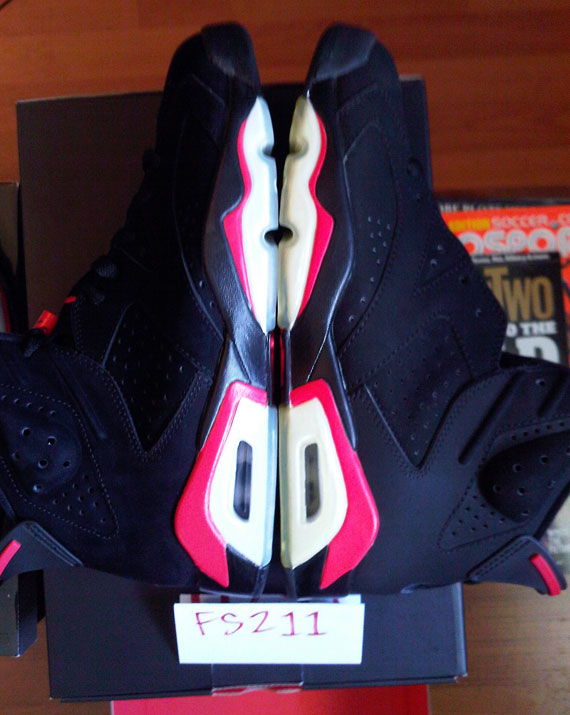 eafc86ca8c5 cheap Air Jordan VI Infrared Pack vs. 2000 Retro/Varsity Red Side by Side