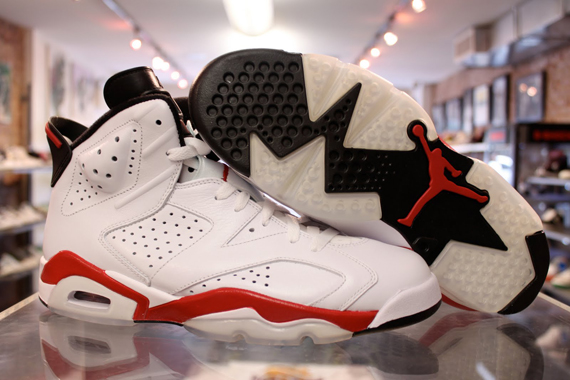 air jordan 6 white red