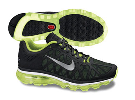 baskets pour pas cher 308c4 37900 Nike Air Max 2011 - Black - Volt + White - Blue ...