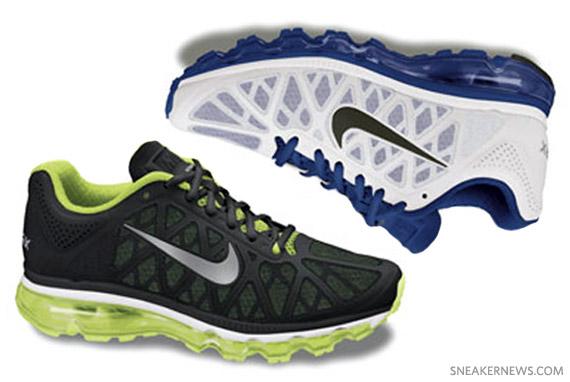 Nike Air Max 2011 Black Volt + White Blue