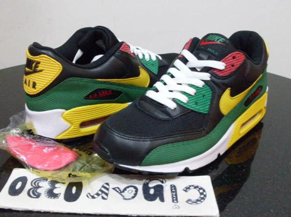 Nike Air Max 90 - 'Rasta' - Black - Yellow - Green - Red ...