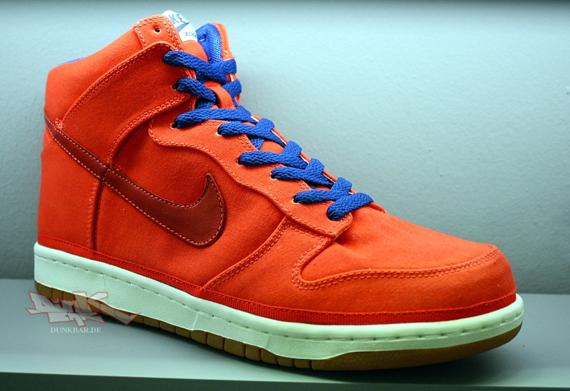 nike shox nz de si des femmes - Nike Dunk High Canvas - Black - Yellow + Orange - Blue ...