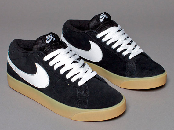 Nike Sb Blazer Lav Cs Svart-hvitt-butikk fNWsBxr
