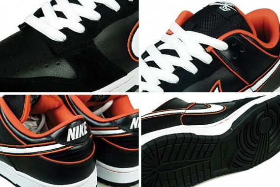 Nike SB Dunk Low Pro Black White Blaze Orange New Images