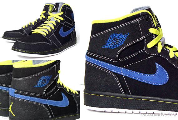 jordan air jordan 1 yellow blue black