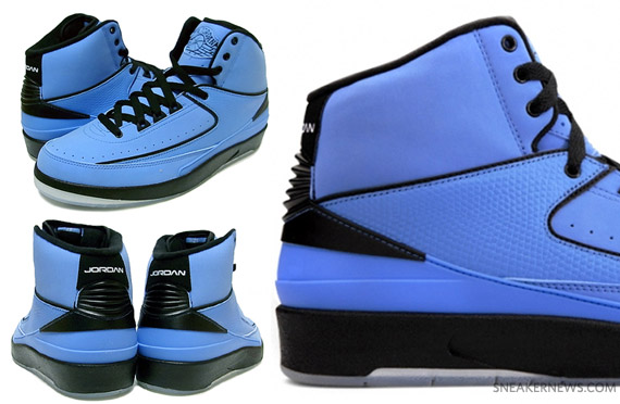 6400f58f609728 Air Jordan II (2) Retro QF - University Blue - Black