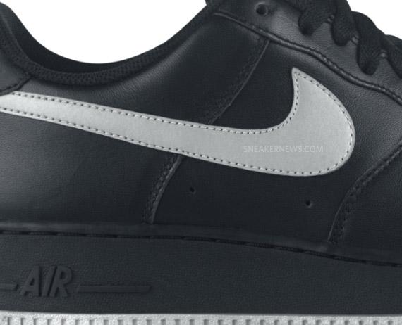 Nike Air Force 1 Low - Black - Metallic