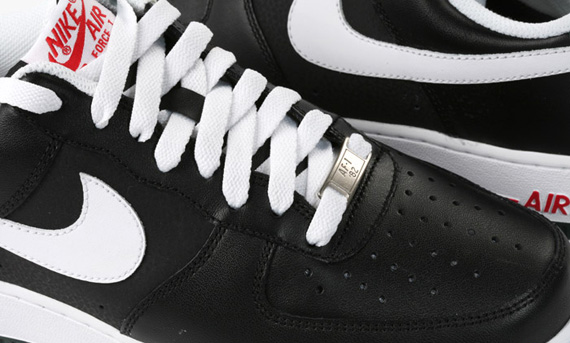 Nike Air Force 1 Low Black White Sport Red