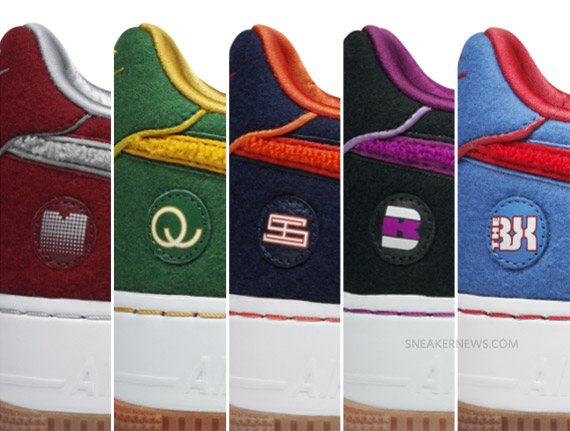 new concept 0b892 d8522 Nike Air Force 1 Low Supreme –  Five Boroughs  Pack   New Images + Release  Info