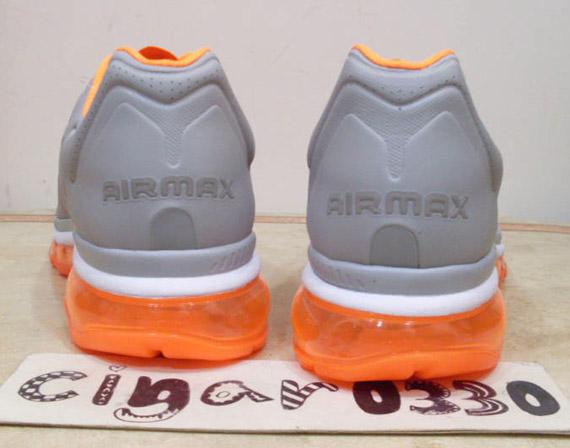 nike air max 2011 wolf grey black total orange