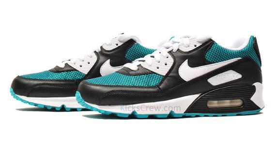 Nike Air Max 90 Black White Turbo Green